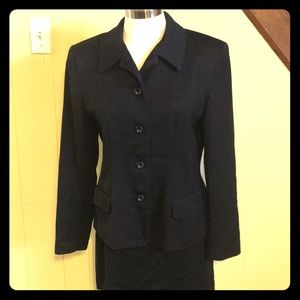 Other - 2 piece Gianni Sport black suit with skirt